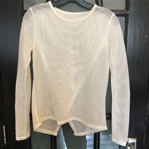 Tops - White see-through long sleeve